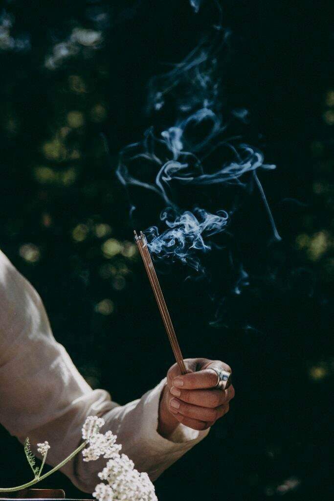 Incense smoke depicting esoteric connection with the element of Air