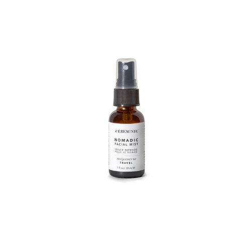 Ceremonie's Nomadic Facial Mist in glass bottle with atomizer