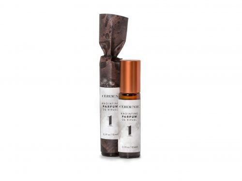 Ceremonie's Anointing Parfum 1 Purification made with fragrant plant oils in glass bottle with steel rollerball
