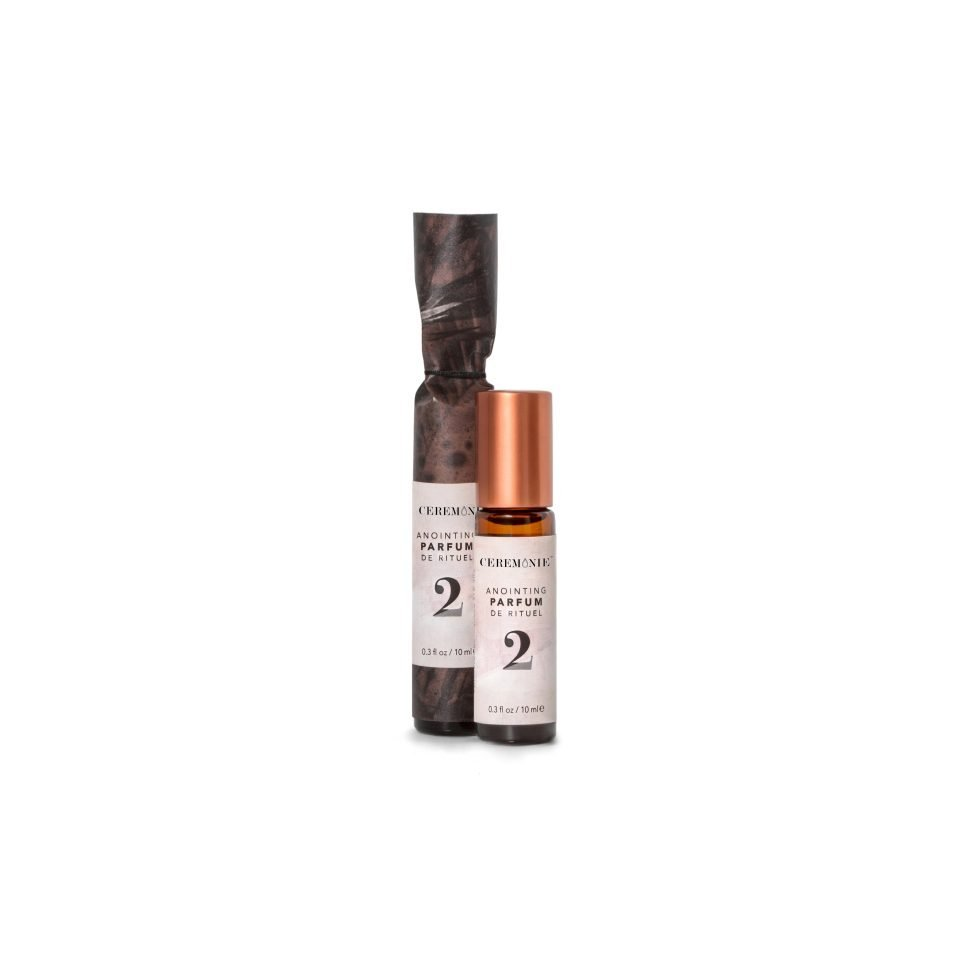 Ceremonie's Anointing Parfum 2 Pleasure made with fragrant plant oils in glass bottle with steel rollerball