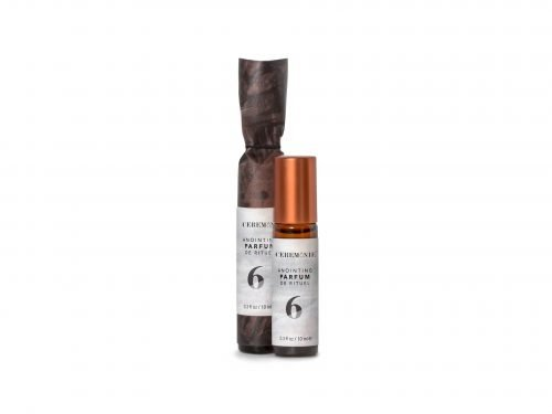 Ceremonie's Anointing Parfum No. 6 Knowingness made with fragrant plant oils in glass bottle with steel rollerball