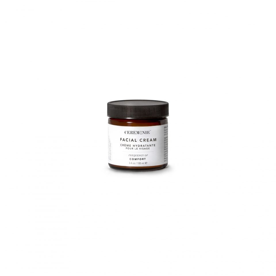 Ceremonie's Facial Cream in Comfort made of plant actives in glass jar