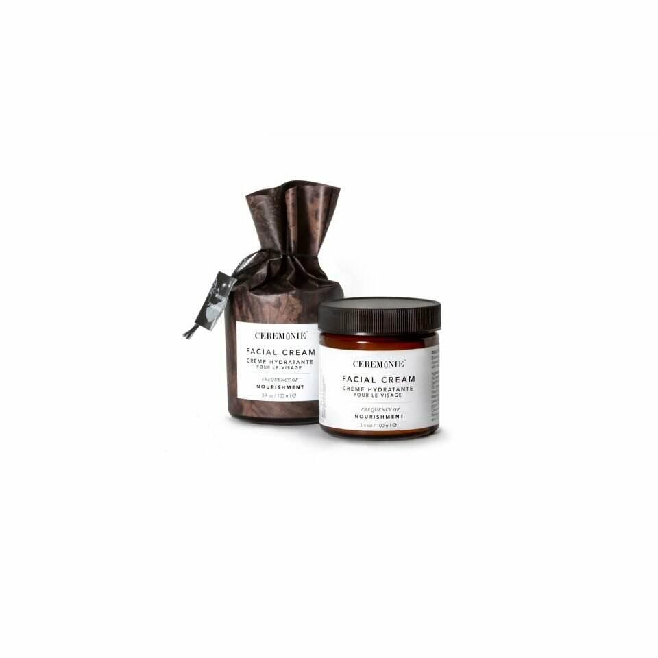 Ceremonie's Facial Cream in Nourishment made of plant actives in glass jar