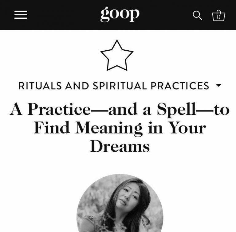Portrait of Mimi Young, founder of Ceremonie and shamanic intuitive and occultist, featured on Goop