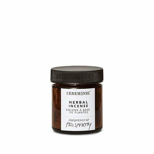 Glass jar of Herbal Ritual Incense: Prosperity