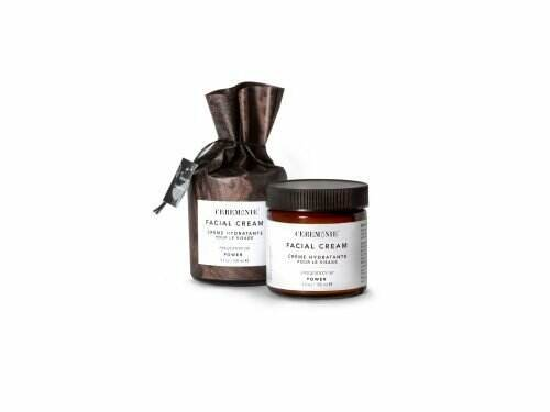 Ceremonie's Facial Cream in Power made of plant actives in glass jar