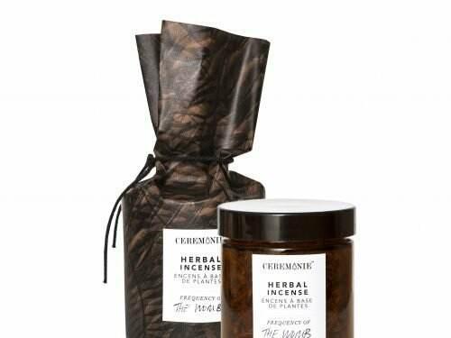 Glass jar of Herbal Ritual Incense: The Womb