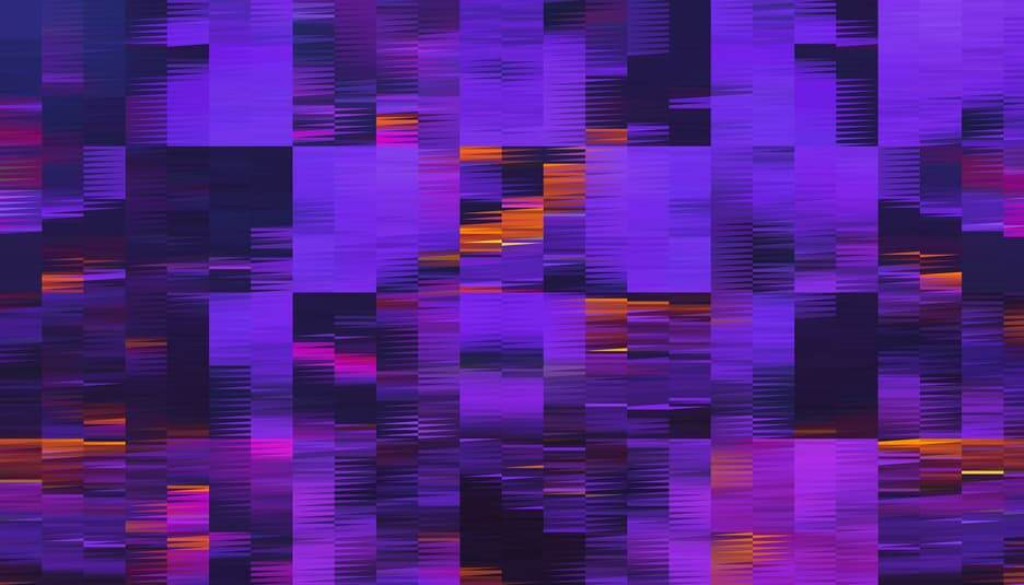 Pixelated rectangles visually representing psychic mediumship with digital spirits