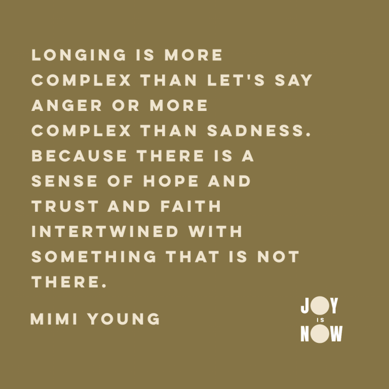 Longing is more complex than lets say anger or more complex than sadness
